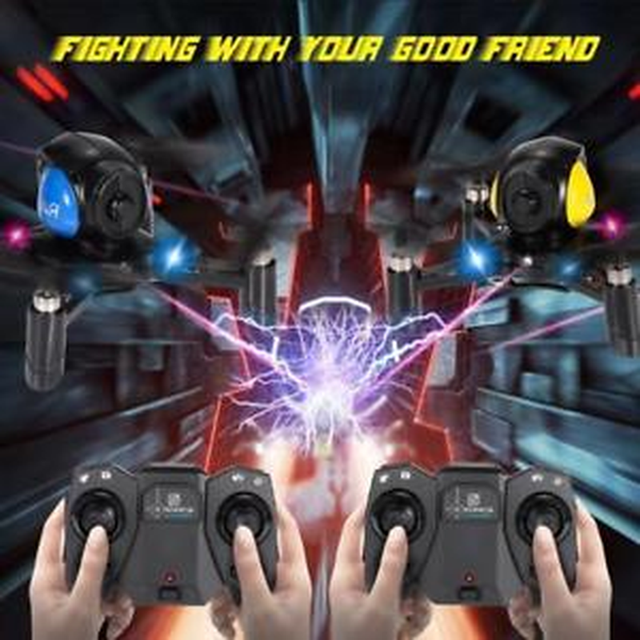 2pcs DIY Racing Battle Quadcopter FY605 2.4G 4CH 6-Axis Gyro Fighter Drone Toys for Children Gifts Mini Rc Drone Hot Selling