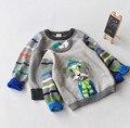 040 venta al por menor nuevo 2015 suéter del muchacho del otoño Dobby perro con gafas bebé de tejer suéter embroma la ropa la ropa