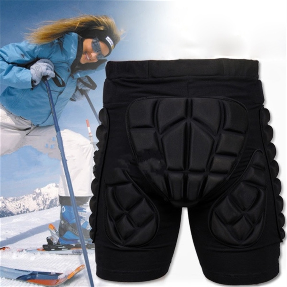 Black Short Protective Hip Butt Pad Ski Skate Snowboard skating skiing protection drop resistance roller padded Shorts
