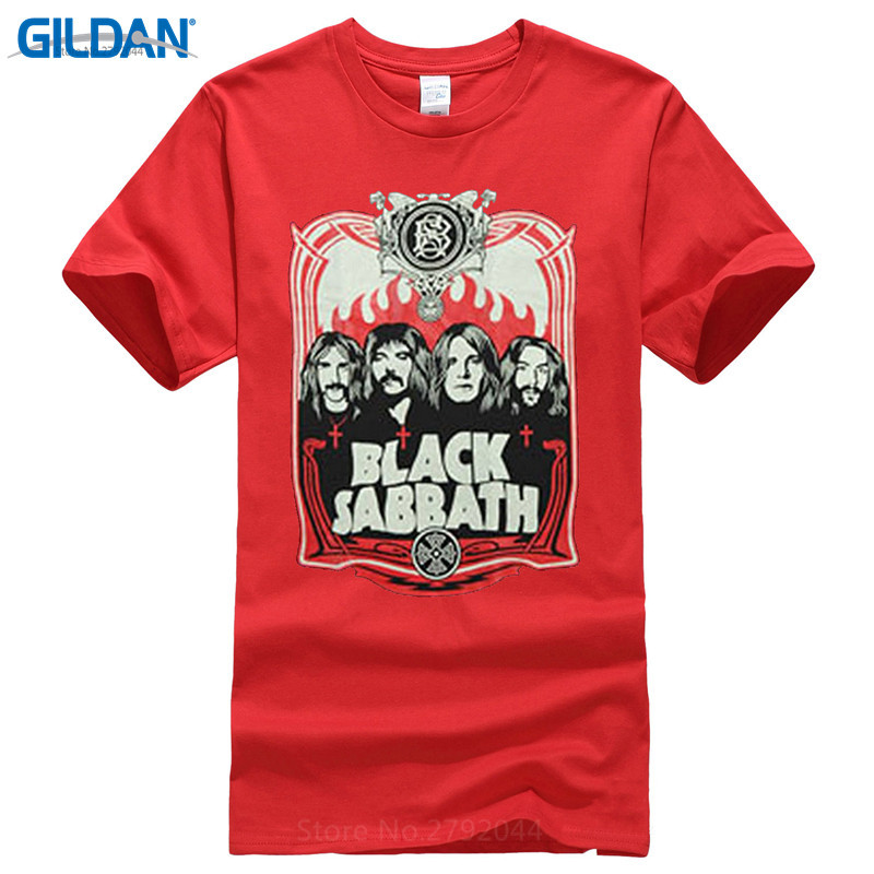 Tee Shirts Online Premium O Neck Short Sleeve Awesome Black Sabbath Red Black Tee Shirts For Men in T Shirts from Men 39 s Clothing