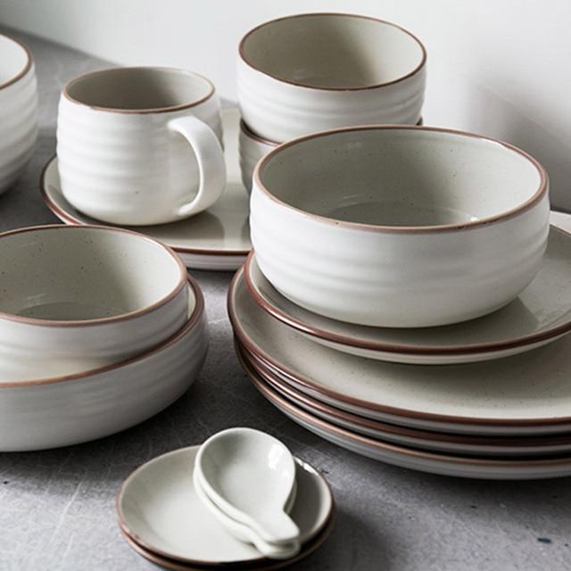 12pcs/set Ceramic bowl plates dinnerware sets kitchenware rice bowl mug dishes salad bowl plates & 12pcs/set Ceramic bowl plates dinnerware sets kitchenware rice bowl ...