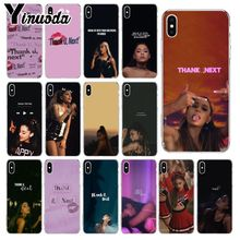 Yinuoda Thank U, Next Ariana Grand TPU Transparent Phone Case Cover Shell for iPhone X XS MAX  6 6s 7 7plus 8 8Plus 5 5S SE XR