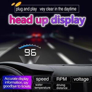 Image 2 - شاشة 3.5 بوصة من Geyiren شاشة HUD لسيارات OBD II HUD شاشة عرض علوي M6 شاشة عرض لدرجة حرارة الماء إنذار فولطية إلكترونية أتوماتيكية DC12V Hud