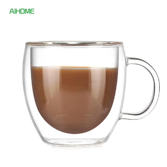 200 ML Doppia Parete di Alta Vetro borosilicato Tazza di Caffè Espresso Tazza di