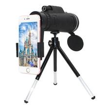 여자 여자 40X 줌 Monocular 휴대 전화 망원경 40x60 아이폰 화웨이 Xiaomi 스마트 폰 카메라 렌즈 야외 사냥