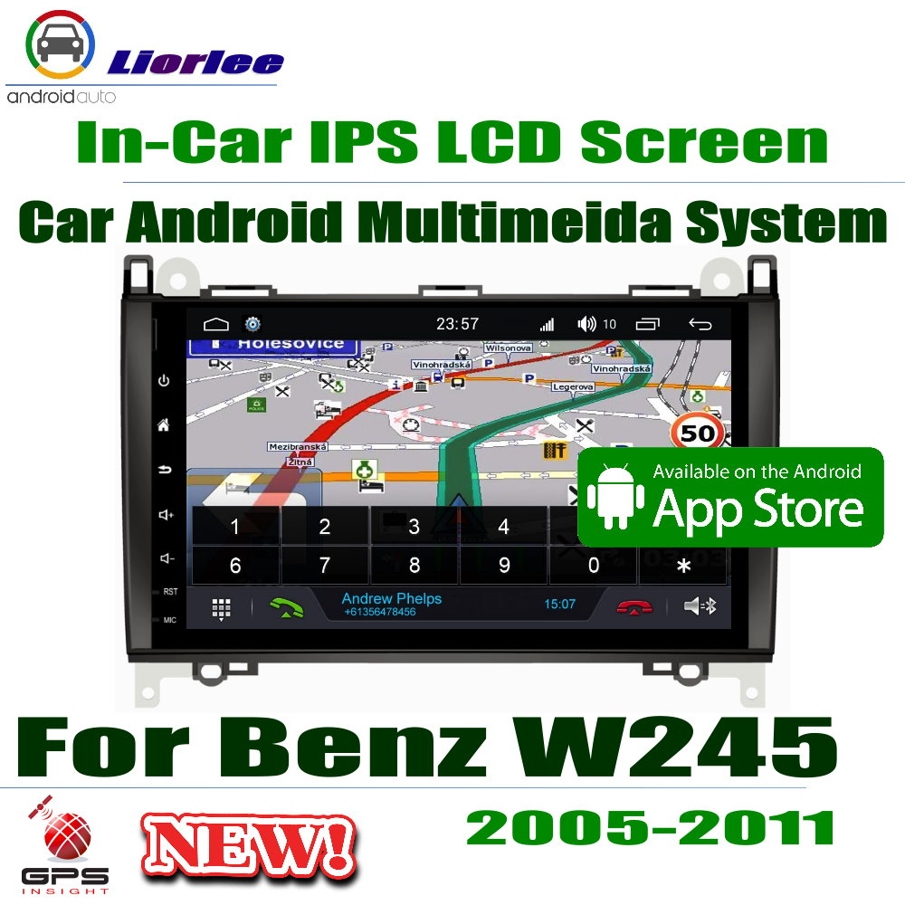 Car Android Player 9 IPS LCD Screen For Mercedes Benz B Class W245 2005 2011 Car GPS Navigation Radio AMP BT SD USB AUX WIFI