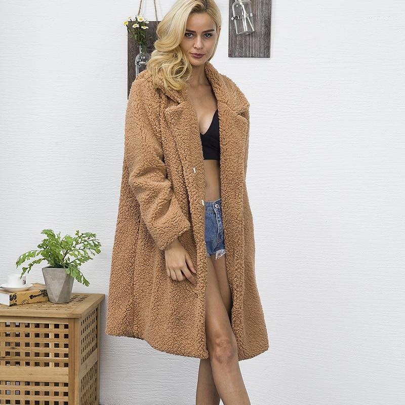 ba38b38dfc8 Teddy Bear Plus Size Faux Fur Coat Women 2018 Autumn Winter Warm Soft Fur  Fleece Jackets Female Plush Overcoat Casual Outerwear-in Faux Fur from  Women s ...