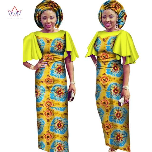 Платье с принтом в африканском стиле макси платья традиционная