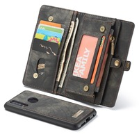 Real Leather Cover For Huawei P30 Lite Cases Luxury Multi Functional Business Wallet Case Kickstand Anti knock With Card Pocket