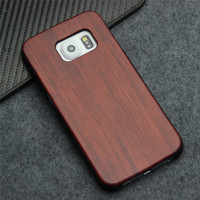 For Samsung Galaxy S6 Edge G9250 Elegent Wooden Stick PC Phone Case 50pcs Wholesale DHL
