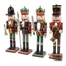 4pcs/set Nutcracker King Queen Model Wooden Figurines Ornament Adorn Desk Decor Child Birthday Gift Crafts