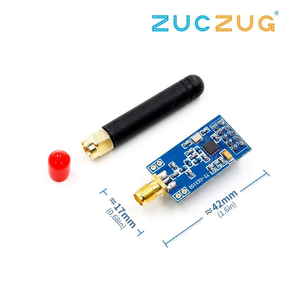 1 pièces CC1101 Module Sans Fil Avec Antenne SMA Module Émetteur-Récepteur Sans Fil Pour Arduino 315/433/868/915 MHZ