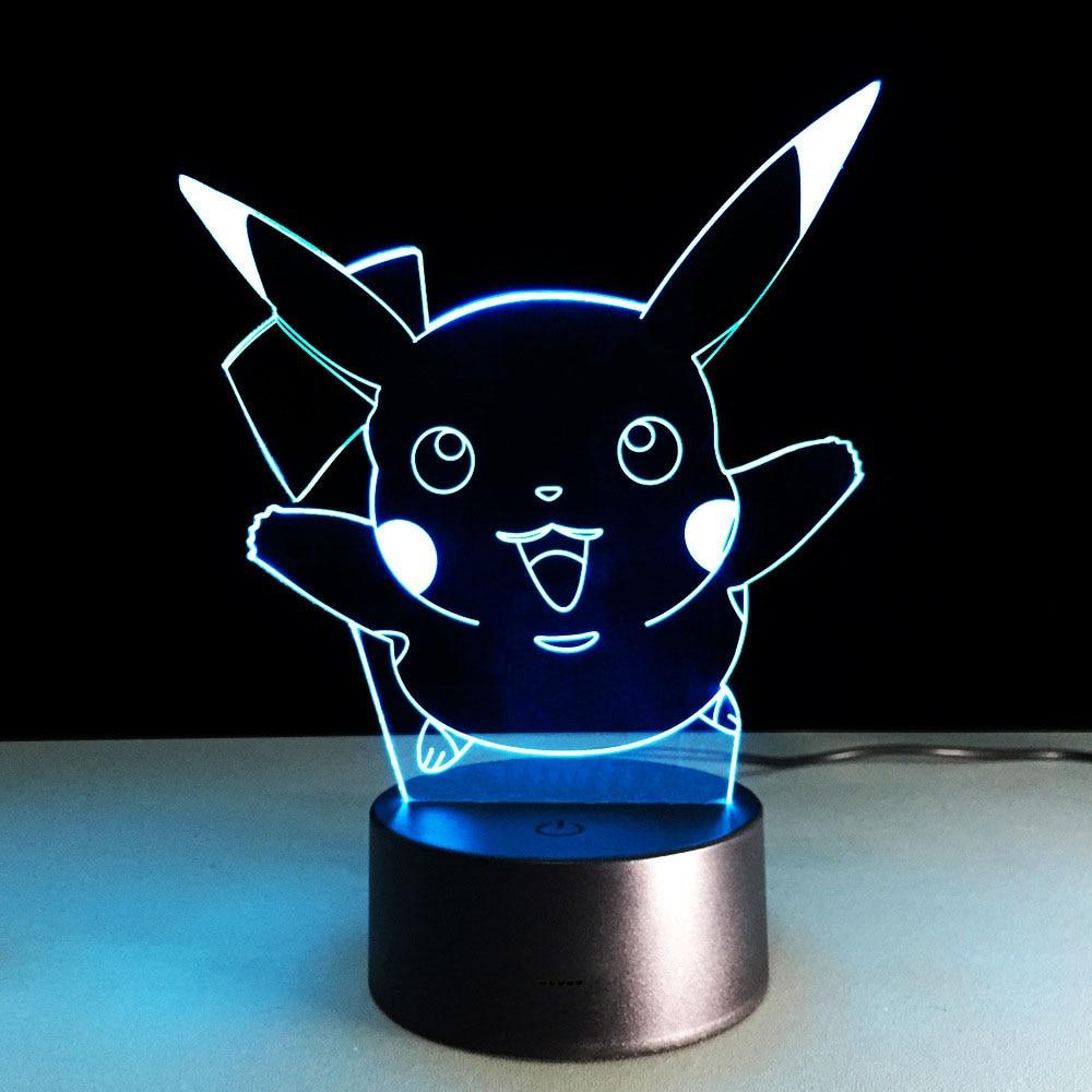 Lumières De Nuit 3d Lyd Lampes De Table Dessin Animé Mignon