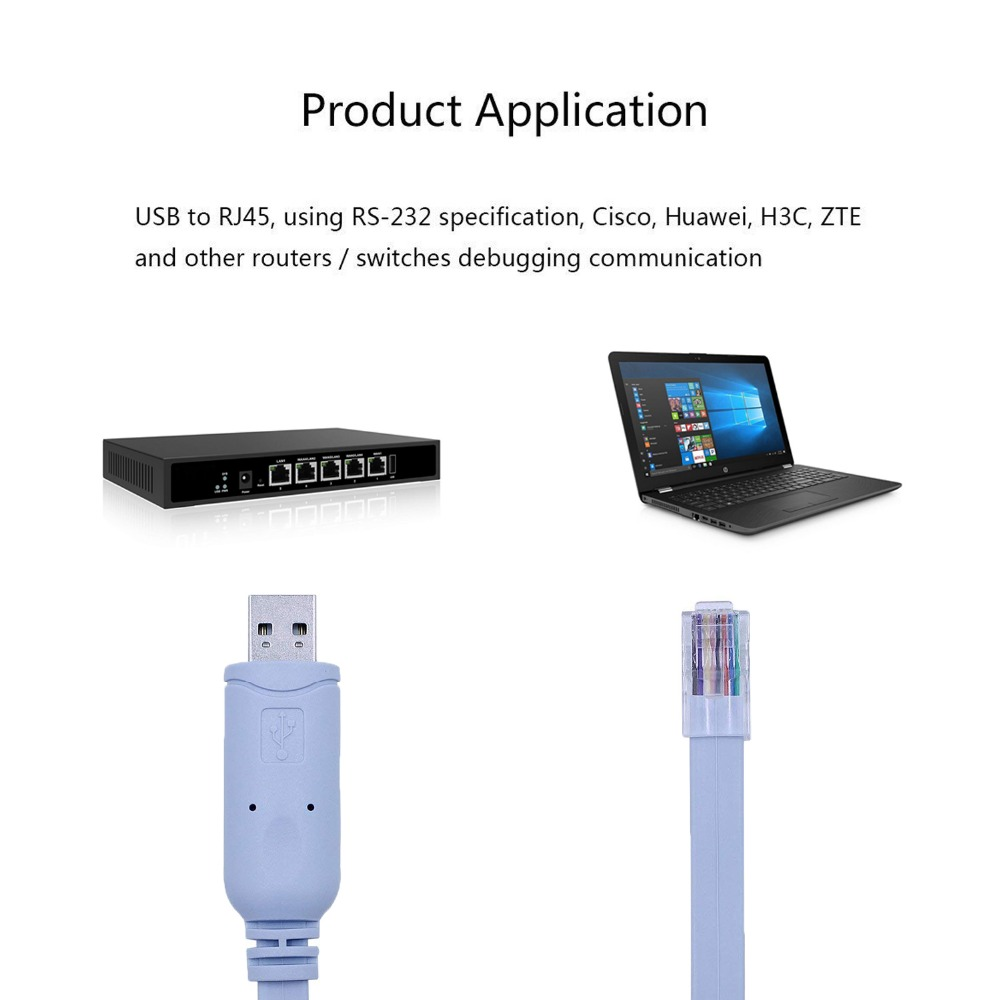 Cisco Console Cable FTDI USB RS232 to RJ45 Console Cable for Cisco NETGEAR H3C HP Arba Huawei Routers Switches for Laptops in Computer Cables Connectors from Computer Office