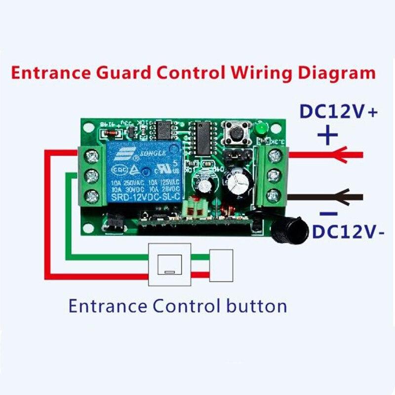 DC12V 1CH 10A Беспроводной Выключатель питания системы teleswitch 18 приемник и 2 передатчика пульт дистанционного управления 10A выходное состояние регулируется - 4