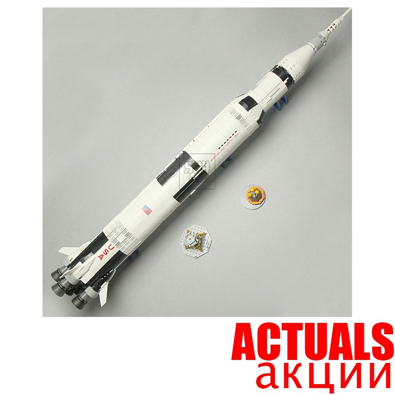Classic LEPIN NASA Apollo Saturn V Rocket Science Space 37003 2009PCS IDEAS DIY Building Blocks Bricks Toys For children 21309