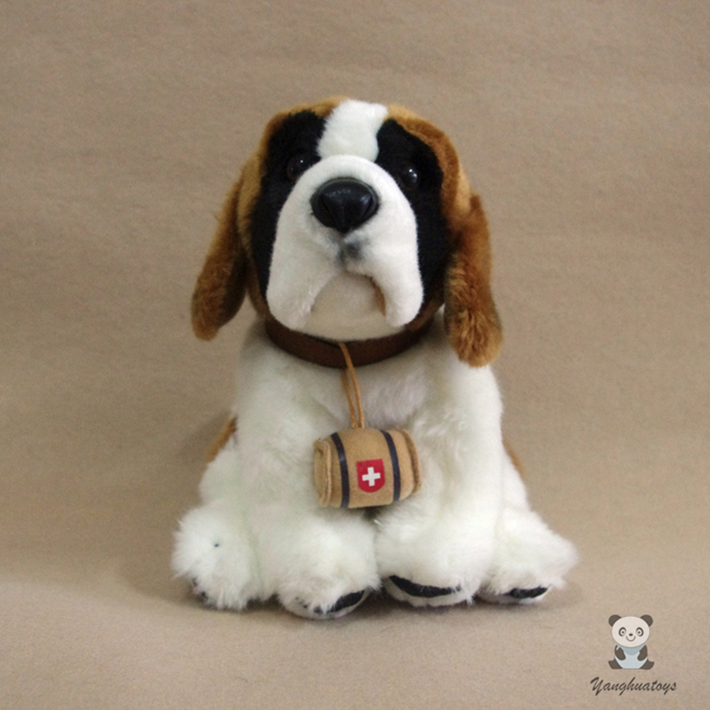 Doux La Vraie Vie En Peluche poupée de chien Jouet Doux Saint Bernard Chiens Présents Cadeaux jouets pour enfants Oreiller Filles