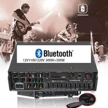 Bluetooth-Amplifier Karaoke Balanced KYYSLB High-Power 220V AV-MP326BT 300w--2 110V 12V