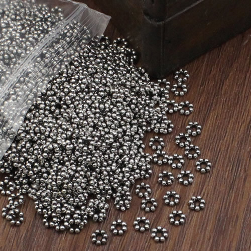 500pcs/lot Spacer Metal Beads Zinc Alloy  Round Beads DIY Jewelry Making Accessories 5mm Hole:2mm (K02822)
