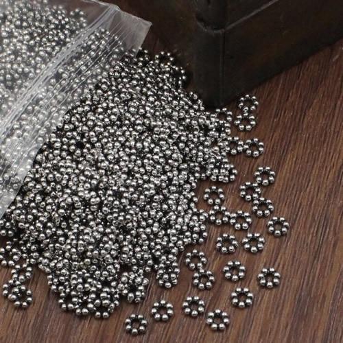 500 perles spacers métal 3.2 mm cuivre