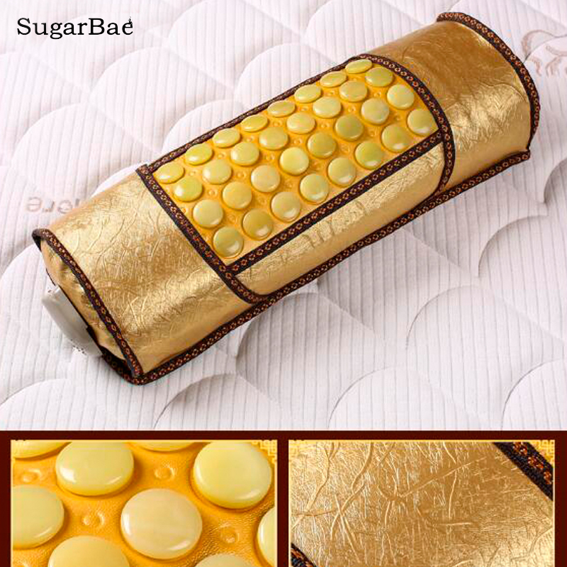 Korea Yellow Jade Pillow Health Care Neck Relax &Pain Relief Sleeping Pillow Free Shipping satin three net cassia seed pillow neck pillow pillow health pillow