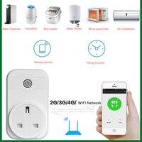 58065 Smart plug 10A Home Automation wifi socket 100 250V Remote Control EU/US/UK Wifi Socket Working with Alexa and Google