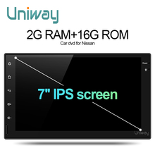 uniway 2G+16G 2 din IPS android car dvd for nissan qashqai x-trail almera pathfinder teana note juke multimedia gps player