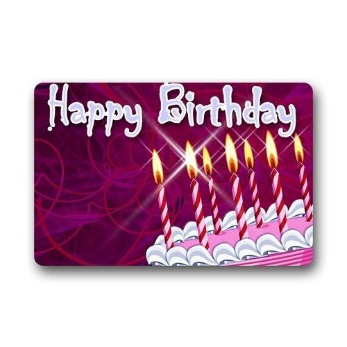 Doormat Personalize Decor Carpets ? Door Mats Happy Birthday cake kids gift Machine