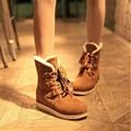 Novas Mulheres Moda Rebanho Botas de Neve Botas Femininas Ankle Boots Botas de Inverno para As Mulheres Zapatos Mujer Sapatos de Inverno Sólidos S-6091201