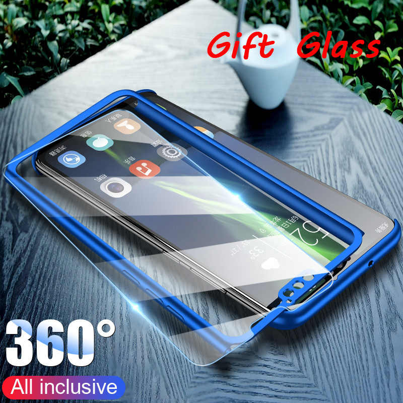 Hard PC Case with Tempered Glass for Honor 8X 8A 8C 6C Pro Full 360 Case for Huawei Honor 9 10 Lite 8 View 20 7A 7C 6X 7X Play