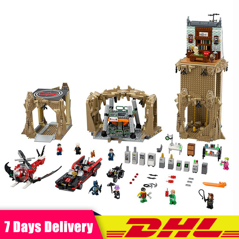 Lepin 07053 2566pcs DC Batman Super Heroes MOC Batcave Educational Building Blocks Bricks Toys Gifts Compatible LegoINGlys 76052 moc 1128pcs the batman movie bane s nuclear boom truck super heroes building blocks bricks kids toys gifts not include minifig