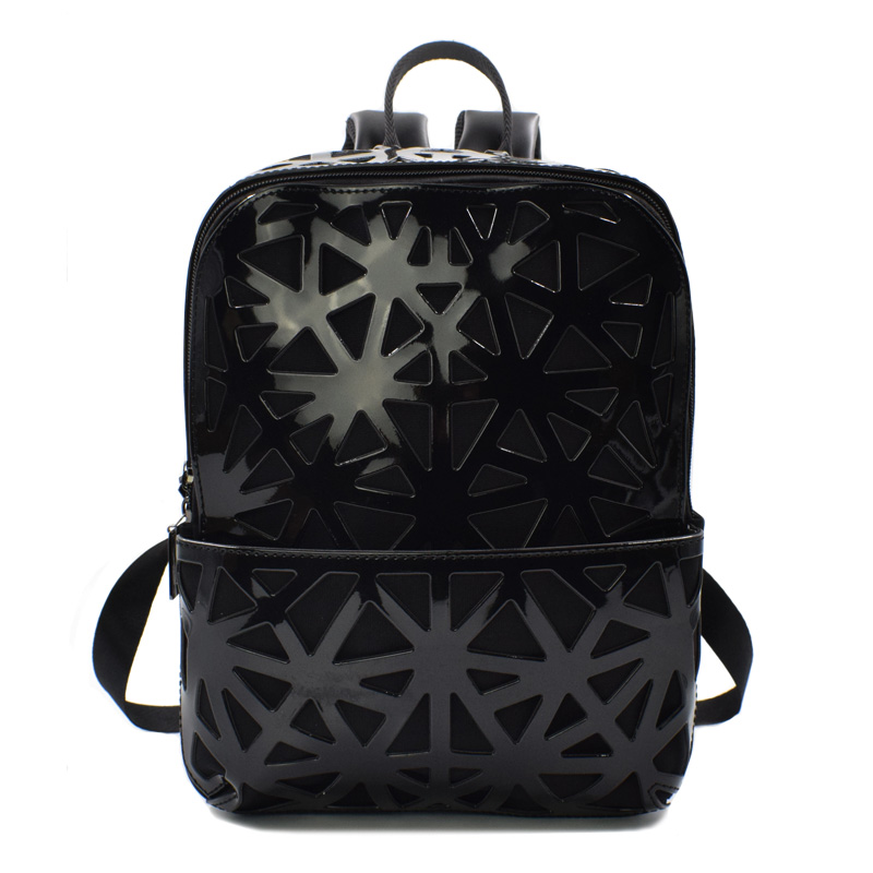 New 2019 Women Backpack Geometric Plaid Women Backpacks For Teenage Girls Bagpack Bag Holographic Hollow Backpack School MochilaNew 2019 Women Backpack Geometric Plaid Women Backpacks For Teenage Girls Bagpack Bag Holographic Hollow Backpack School Mochila