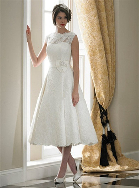 Princesa Style Summer Vintage Casamento tanque vestidos novia corto ...