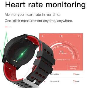 Image 4 - Inseguitore di fitness orologio da polso intelligente Oled di silice banda Heart Rate Monitor di pressione sanguigna tracker vita Impermeabile PKHonor fascia