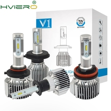 2X 6500K H1 H3 HB3/9005 HB4/9006 COB V1 Headlight Fog Auto Light 72W 8000LM High Low Beam Bulb Automobile Lamp DC 12V стоимость