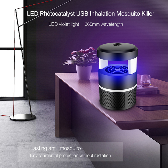 2018 New Camping Tent Accessrioes USB Radiationless Electric Mosquito Killer Mute UV Night Light Lamp Anti Mosquito Zapper XNC 4