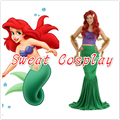 2016 sexy costumes for women adult princess ariel dress The little Mermaid Ariel princess Cosplay costume mermaid dress