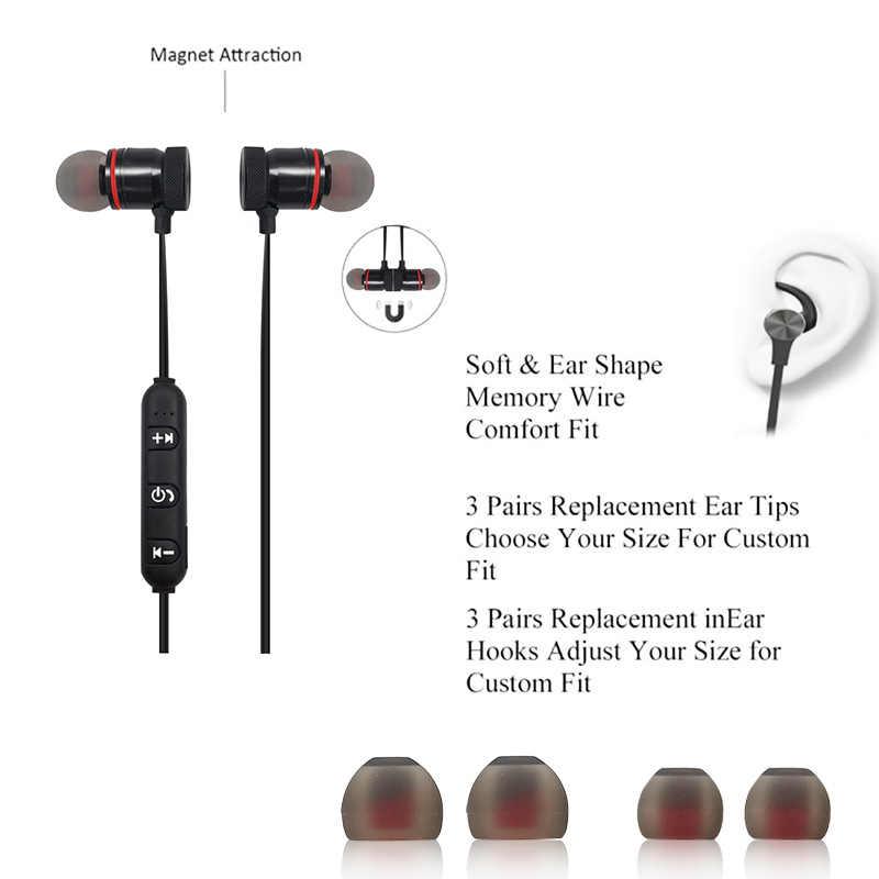 Magnetyczne bezprzewodowe słuchawki sportowe Bluetooth słuchawki do Xiaomi telefonu IPhone z pałąkiem na kark Ecouteur Bluetooth Fone De Ouvido F2C312