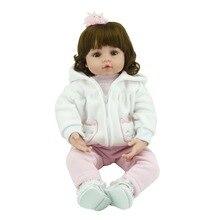 Кукольный 55 см силиконовые винил возрождается куклы очаровательны чаки ручной дети принцесса toys children bonecas bjd куклы reborn