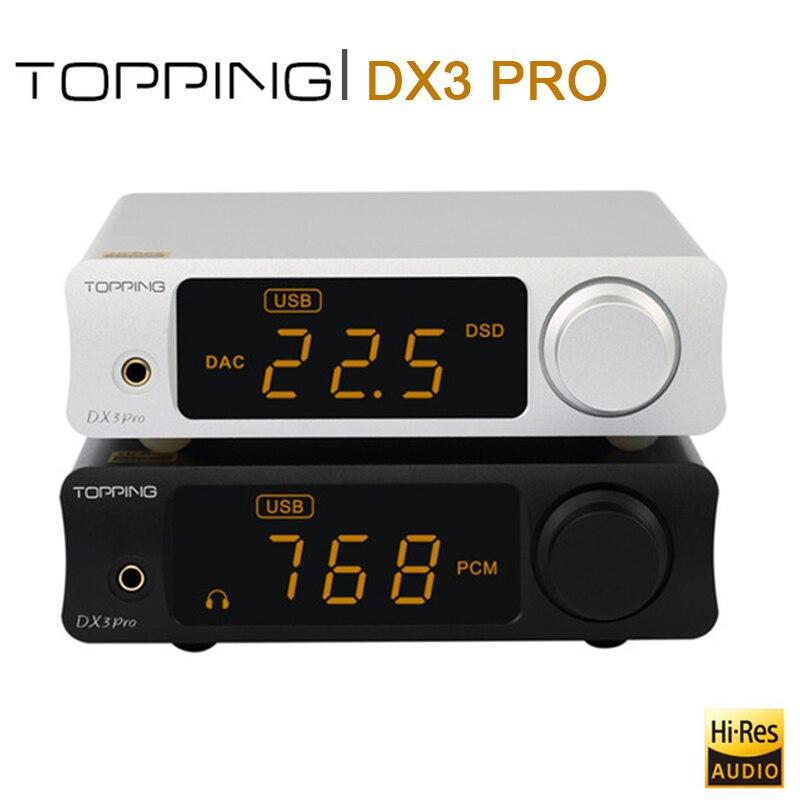 GARNITURE DX3 PRO USB DAC Amp XMOS XU208 AK4490EQ OPA1612 Décodeur DSD512 Amplificateur casque bluetooth Amp ATPX Coaxial Optique