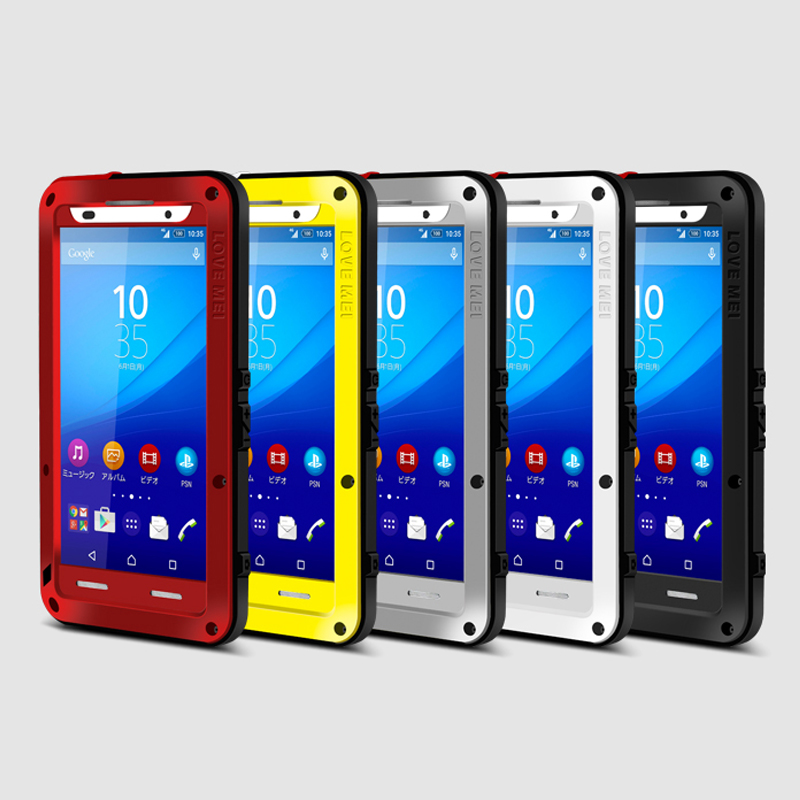 Цена за Для Sony Xperia Z4/Z3 плюс Чехол оригинальный водонепроницаемый противоударный алюминиевый случаях металлическая крышка для Sony Z3 Z4 случае С Gorilla Glass