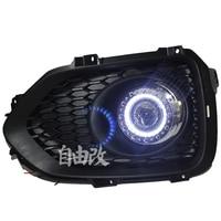LED DRL дневного света COB Ангел глаз, объектив проектора туман лампы с крышкой для Kia Sorento 2009 12, 2 шт.