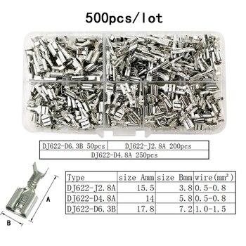 Kolory SN-48B Drutu Szczypce Do Zaciskania 0.5-2.5mm2 20-13AWG Precyzja Szczęki Z Ponad 500 Sztuk/partia TAB 2.8 4.8 Terminale Zestawy Narzędzi