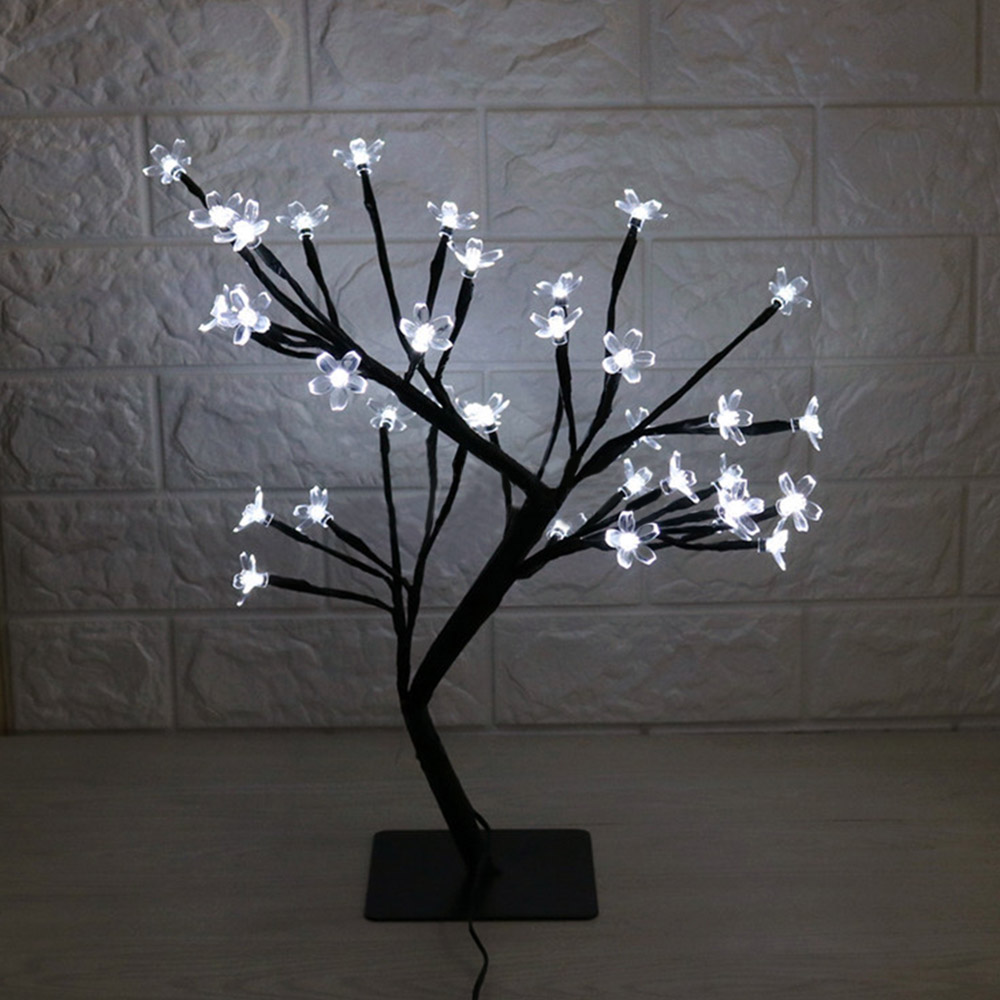 Tree Branch Lights LED Cherry Blossom Lamp 36 Bulbs Christmas Vase Coffee Floral Lamp Decorative Light Wedding Home Bar Decor