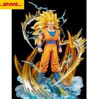 20 Dragon Ball статуя Супер Saiyan бюст Сон Гоку полная длина портрет анимационная фигурка GK Коллекционная модель игрушки коробка 50 см Z505