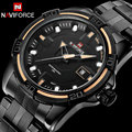 Fashion Men sport Watches top NAVIFORCE brand men's quartz watch waterproof steel band  wristwatches for men relogio masculino