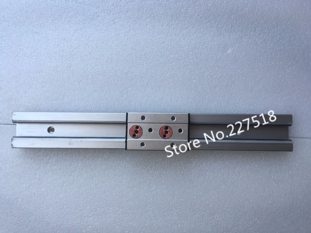 2pcs Double axis roller linear guide SGR10 L410mm+4pcs SGB10UU block multi axis core linear Motion slide rail auminum guide free shipping to argentina 2 pcs hgr25 3000mm and hgw25c 4pcs hiwin from taiwan linear guide rail