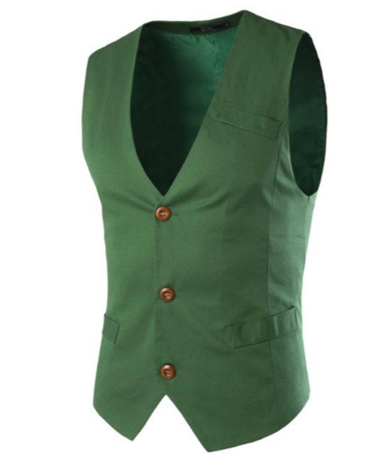Mens Suit Vest Clothing Light Blue White Green Black Cotton Casual Spring Autumn Jacket New Stylish Design Stylish Waistcoat