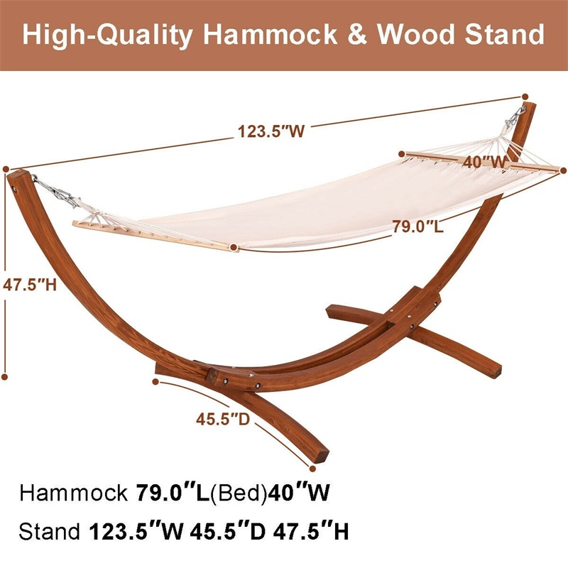 123 x 46 x 48 Outdoor Möbel Camping Holz Gebogenen Arc Hängematte Schaukel OP3120 - 5