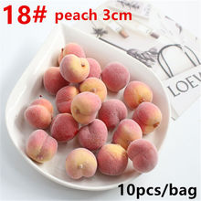 10 pcs / packageMini Simulation of Fruits and Vegetables Artificial Kitchen Toys for Children Pretend